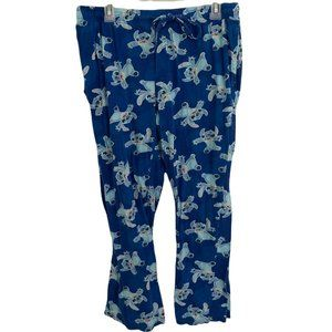 Disney Stitch Pajama Pants Women's Medium Blue Col